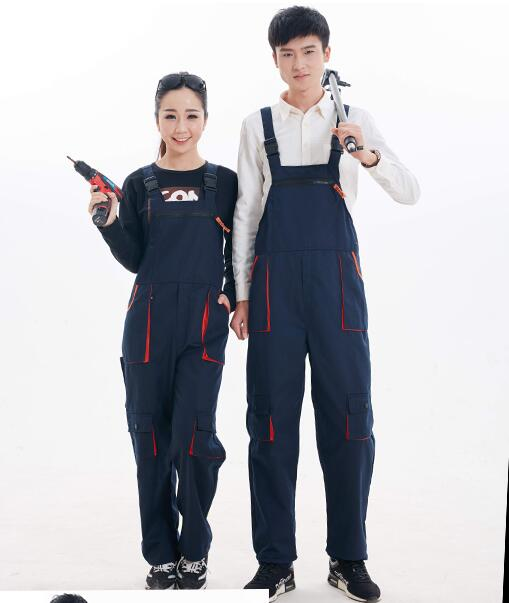 Work overalls men women protective coverall repairman strap jumpsuits trousers working uniforms Plus Size sleeveless coveralls<br>