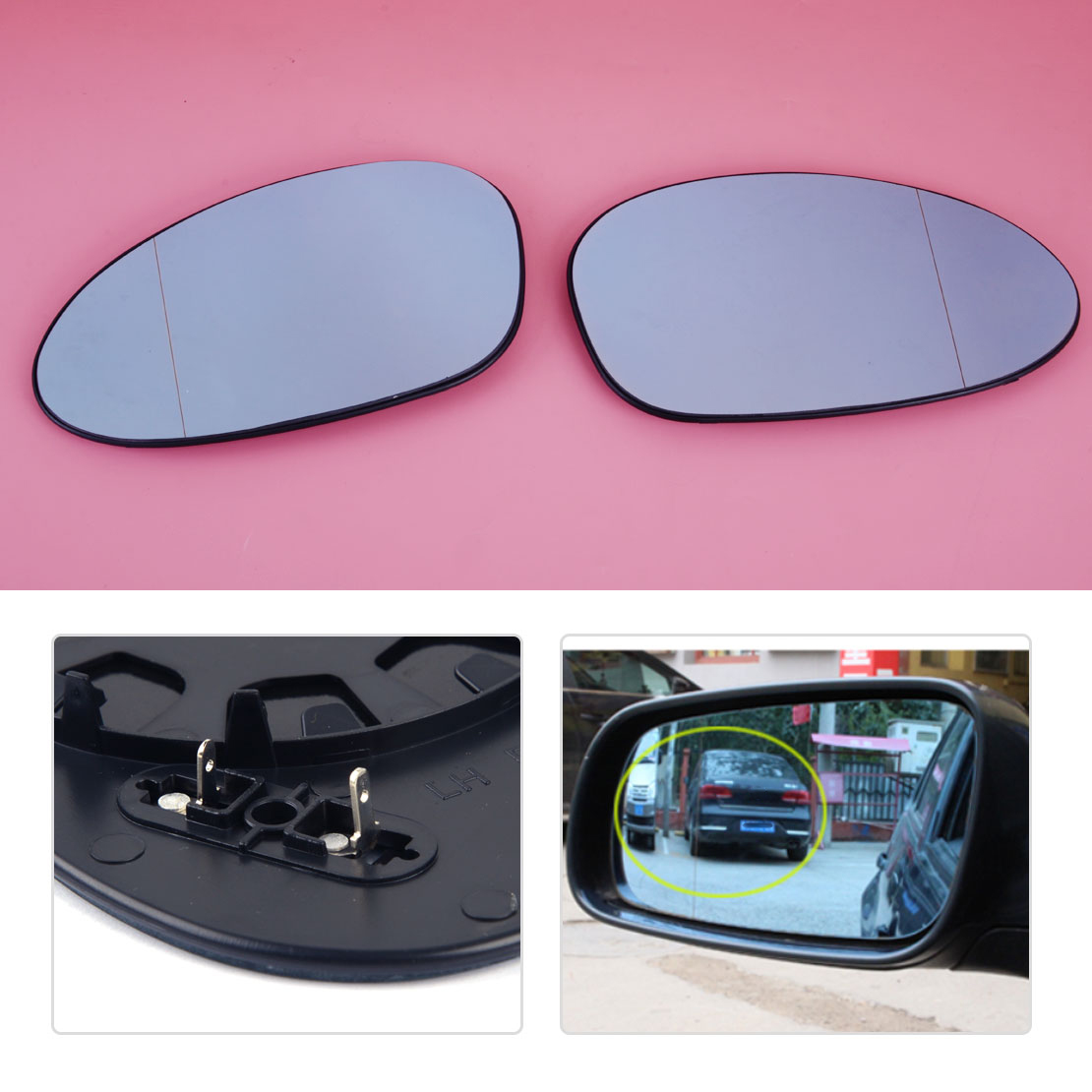 Left Blue Heated Wing Mirror Glass For BMW  E90 E91 05-08 E82 E87 E88 E85 Z4 E92