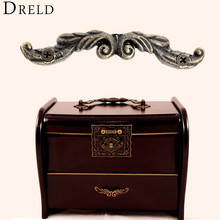 10pc Antique Drawer Pull Jewelry Box Handle Little Box Pull Handle Cabinet Drawer Wardrobe Door Handle Furniture Fittings W/srew(China)