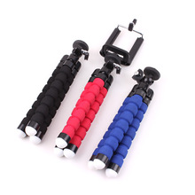 Mini Sponge Tripod Digital Camera Mobile Phone Stand Flexible Grip Holder Mount With Clip 1/4 Screw Interface(China)