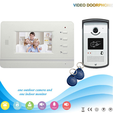 Xinsilu XSL-V43B3-ID Manufacturer Hot selling 4.3 Inch rfid ID Handfree 4 Wires Intercom Video Door Phone For Villa support