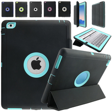 For Apple iPad 2 iPad 3 iPad 4 Retina Kids Safe Armor Shockproof Heavy Duty Silicone Hard Case Cover w/Screen Protector Film