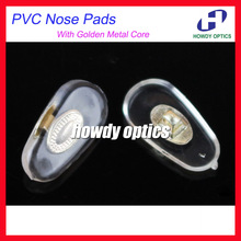 500pcs/lot Eyeglasses PVC Nose Pads With Gold  Metal Core 14mm Screw-in Type Glasses Accessories