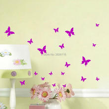 Butterfly Wall Stickers DIY Wall Decals Vinyl Mural Wall Decoration for Bedroom Living Room Children Girls Room Decor(China)