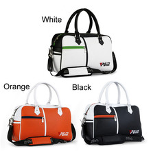 High Quality PU Leather Golf Boston Bag Multifunction Golf Clothing Bag Large Capacity Travel Bag with White/Black/Orange Color