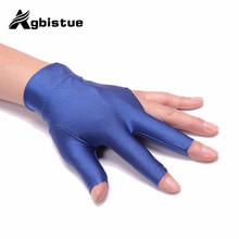 Agbistue 1pc Comfortable Spandex Snooker Dedicated High-grade flexible Non-slip Exposed Three Fingers Gloves Billiard Accesso(China)