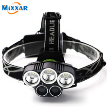 ZK20 CREE 15000LM Headlamp 3 XML-T6 White 2 XPE Blue Light LED Headlight LED Head Lamp for outdoor Camping Fishing Light