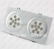 18W(2*9W) 18-LED Dual-Head Recessed Ceiling Cabinet Light Fixture Downlight/Spotlight Bulb Lamp Rectangle AC 110V/220V