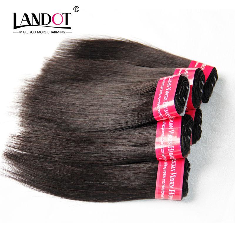 Cheap 7A Brazilian Virgin Hair Straight 3pc/Lot 300g Brazilian Hair Weave Bundles Natural Color Short Human Hair Extensions<br><br>Aliexpress