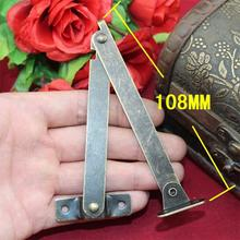 2014 Direct Selling Top Fasion Freeshipping 108 * 11mm Support Hinge Antique Wooden Tripod Hinges Supporting Boxes Corner(China)