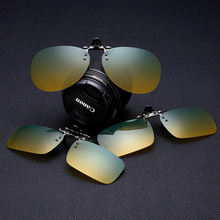 UV400 Driving dedicated Polarized Clip on Sunglasses Myopia Prescription glasses clip on Daytime Nights Multifunction Driving(China)