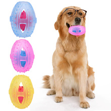 Hollow Out TPR Ball Dog Toy Natural Non-Toxic Rubber Teddy Dog Geometric Toy Ball Bite-Resistant Teeth Fun Interactive Toys