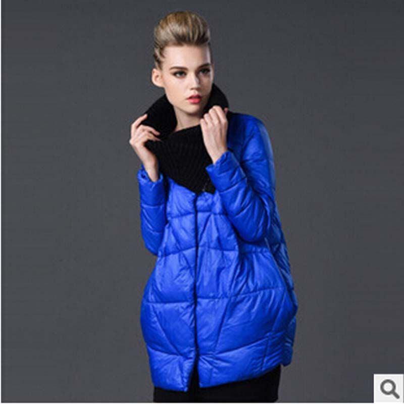 high quality European new 2016 winter Thicken long down cotton coat women knitted patchwork plus size 6XL cotton coat FLM631Одежда и ак�е��уары<br><br><br>Aliexpress