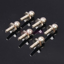 6PCS RC car 1/10 HSP 06065 BALL HEAD SCREWS For RC 1/10 Model Car Spare Parts(China)
