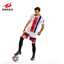 Custom soccer jerseys football uniforms shirts football teams set full sublimation polyester breathable soccer uniform(China)