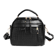 Fasion Women Leather Handbag Women Bag Knitting Shoulder Crossbody Bag Women Messenger Bags Clutch Bolsa Feminina sac a main