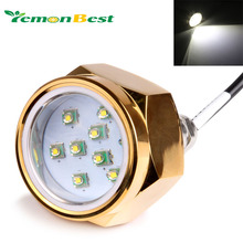 "Free shipping Super Bright 27W Boat Drain Plug  LED light 9 LED Underwater Light Boat light lamp 1/2"" NPT Threaded 12V/24V"