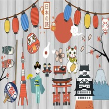 Japanese restaurant cultural backdrop living room wallpaper mural children room kindergarten custom Wallpaper