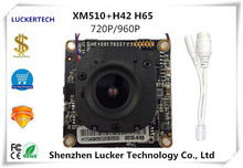 Luckertech CCTV IP Camera module Board XM510+H42 H65 720P 960P Module board with lan cable manual Serveillance free shipping