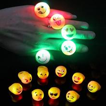 3pcs Finger Light Shiny Neon Stick Finger LED Ring Luminous Toy Glow Dance Toy Shining Ring Party Supply L50(China)
