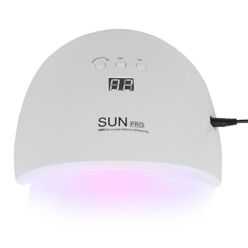 48W Nail Dryer New Style Portable UV Lamp For Drying Unique Low Heat Model Double Power Fast Manicure 23Leds UV Lamp<br>