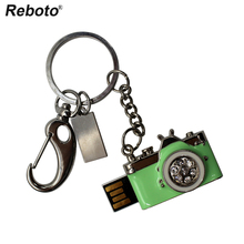 High speed USB Flash Drive 4gb 8gb 16gb 32gb 64gbPen Drive USB stick memory stick Diamond Camera Metal Keychain USB Disk(China)