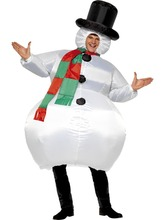 4PCS/LOT Christmas Inflatable Snowman Costume Dance Party Cosplay Show Prop Deco Adult PARTY Clothes Cheerleading Uniforms(China)