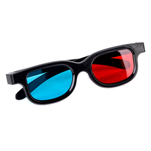 Mayitr 1pair Red Blue 3D Glasses PC Plastic Movie 3D Glasses Frame For Dimensional Anaglyph TV Movie Game DVD(Hong Kong)
