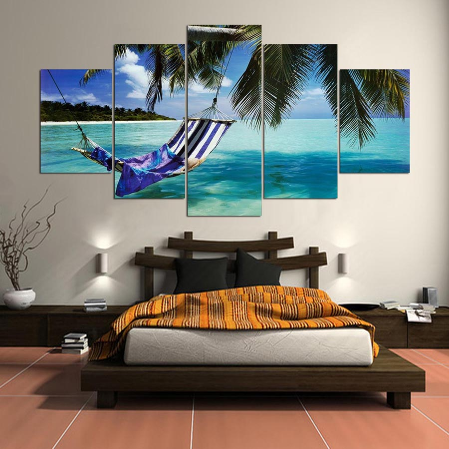 5-Pieces-canvas-art-the-Beautiful-sea-view-scenery-landscape-modular-picture-canvas-painting-for-living