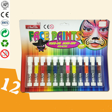 Party Kids Face Body Painting Color Face Paint Art Make Up Kit Set 12Color Artoys Dazzling Toys Colored Face Paint Crayon Sticks