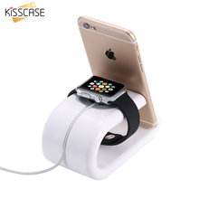 KISSCASE Innovative U Shape Charging Dock for iWatch Smart Watch Baking Desktop Phone Stand Holder Support For iPhone 6 7 5S