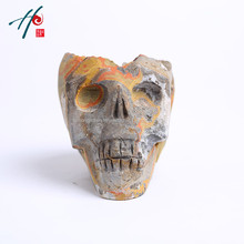 Special skull container Globe Nature Rare Quartz Crystal Miniature Figurines Carved Human GemstoneSkull Model Home Decoration(China)