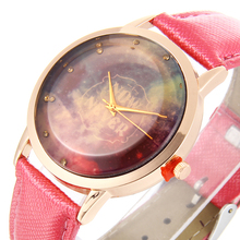 2017 Now never fashion Watch Starry Sky Space Watch stainless steel Wristwatch Special Birthday Gift for children relogios