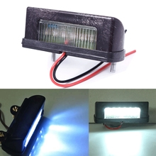 Practical 12V LED Number Licence Plate Light Rear Tail Lamp Truck Trailer Lorry #63588