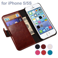 Luxury Case iPhone 5 5S SE Coque Cover Fundas, Wallet Style Leather Phone Case Apple iPhone5(China)