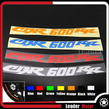 For HONDA CBR600RR CBR 6000RR Motorcycycle Accessories Front & Rear CUSTOM INNER RIM DECALS WHEEL Reflective STICKERS STRIPES