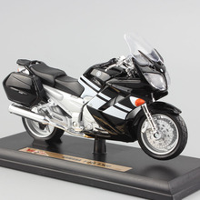 1/18 scale child's mini metal Die casting YAMAHA FJR 1300 sport touring race auto car motorcycle model Toy for collection black(China)
