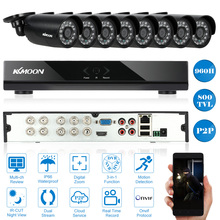 KKMOON 8CH CCTV HDMI 960H DVR 800TVL Security Camera System Outdoor 8pcs IR CCTV Camera DVR Video Surveillance Kit USA Stock
