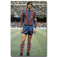 NICOLESHENTING Johan Cruyff Football Legend Art Silk Poster Print 13x20 inches Netherlands Soccer Star Pictures Room Decor 002