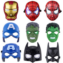 Superhero Halloween Mask Lighted Kids Spiderman Iron Man Hulk Batman Party Masks The Avengers Mask For Children's Day Cosplay