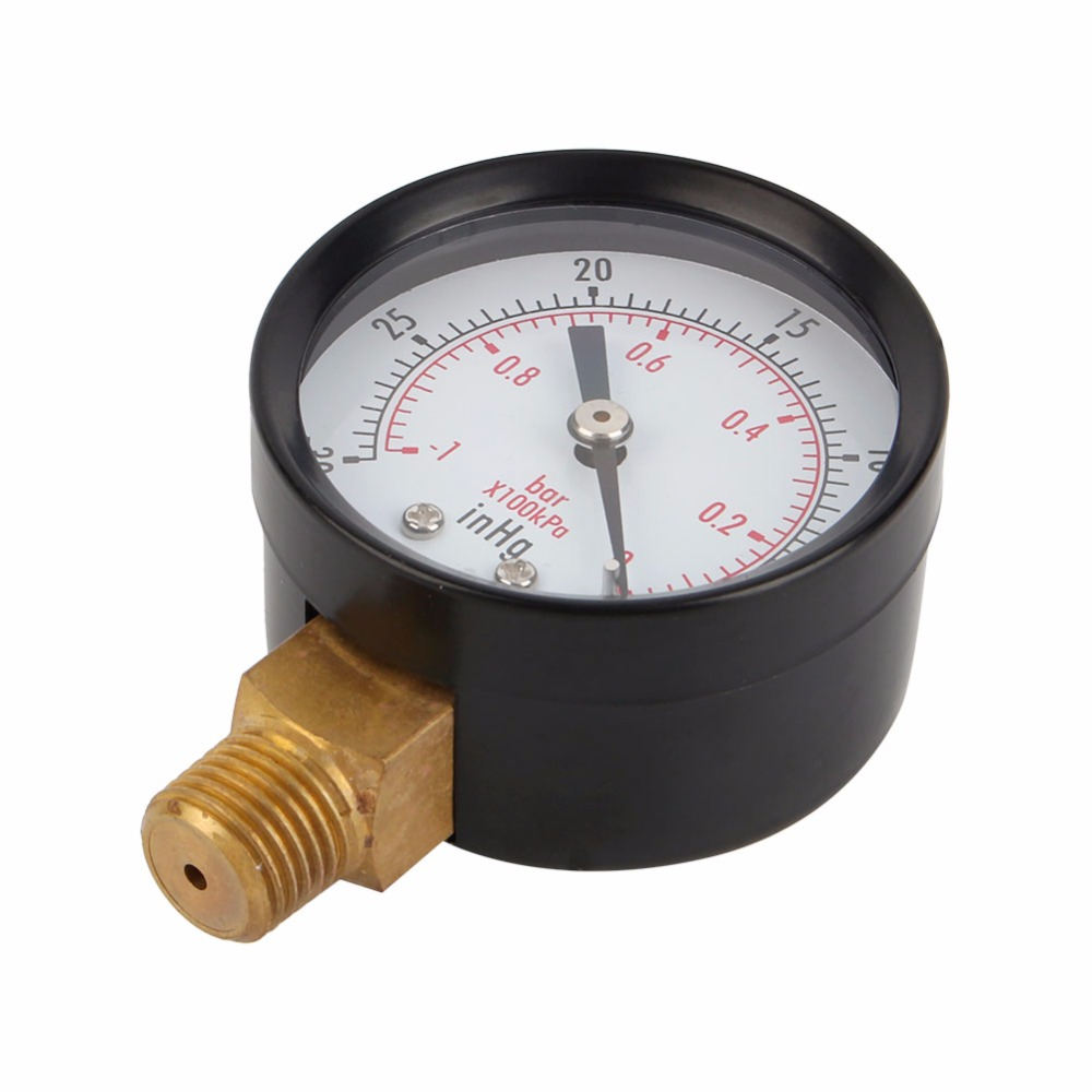 Pool Spa Filter Wasser Luft Öl Vakuum Trocknen Utility Manometer  Seitenmontage 1/4 Zoll Rohr