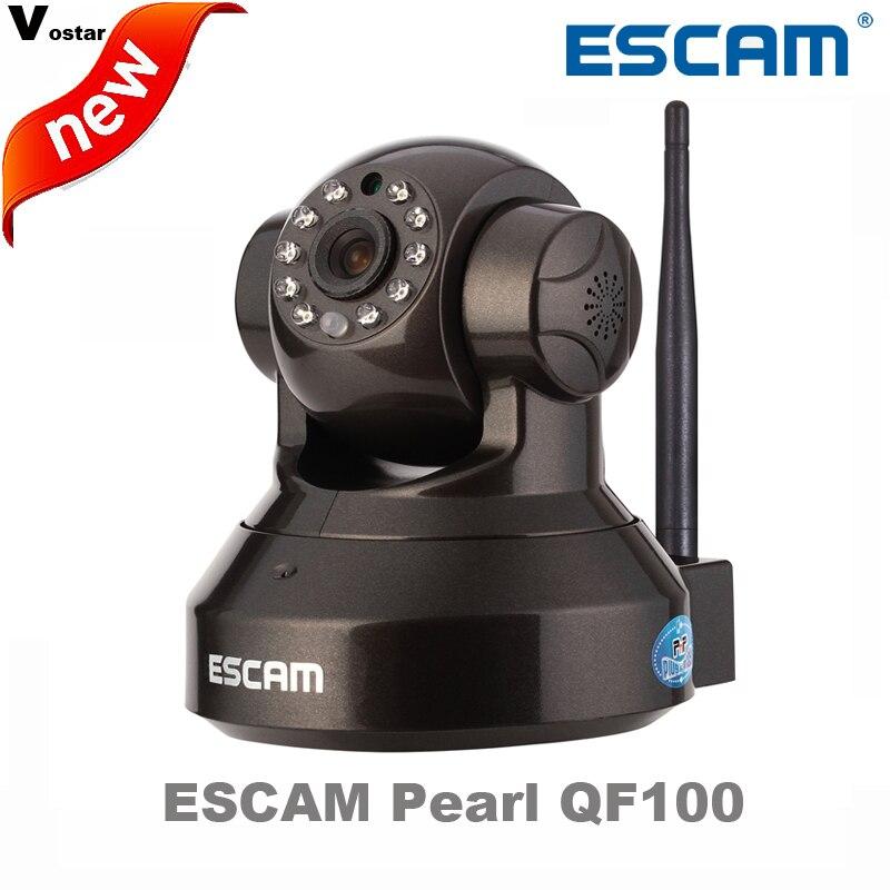 ESCAM PEARL QF100 with Plug&amp;Play P2P Wireless WiFi Pan Tilt IR Cut Two Way Audio Micro SD Card Slot 720P HD onvif IP CAMERA<br><br>Aliexpress