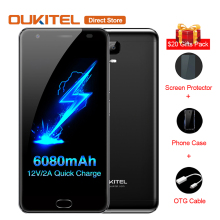Original OUKITEL K6000 Plus 4G Mobile Phone Android 7.0 6080mAh MTK6750T Octa Core 4GB+64GB 12V/2A 5.5'' Fingerprint Smartphone(China)