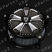 Harvey Design VENTURI Speed 7 Contrast Cut AIR CLEANER 4 For HARLEY Dyna Parts