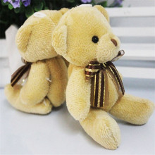Fashion Adorable Soft Plush Stuffed Brown Ribbon Teddy Bear Toys Best Gift PF#