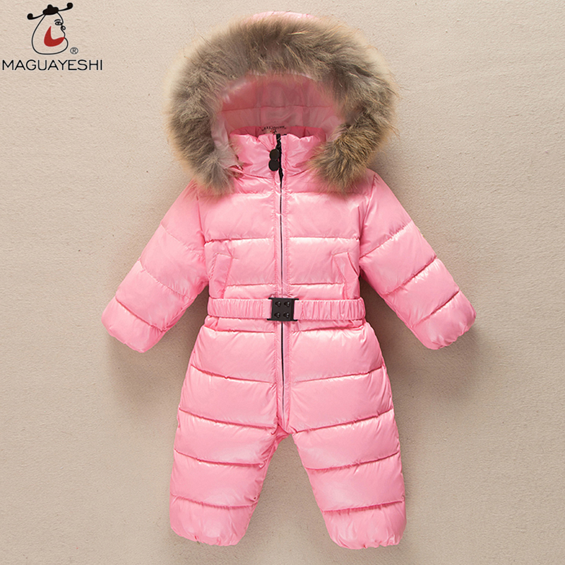 Winter Baby Clothing Thick Romper Baby Girls Snowsuit Coat Kid Outerwear Clothes Children Jumpsuit Duck Down Jacket Baby Clothes<br><br>Aliexpress