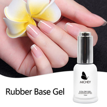Healthy UV Primer Soak Off Long-lasting Rubber Base Thicker Gel For Nail Art Gel Lacquer 12ml MICHEY(China)