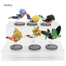 Dragon Ball 6pcs/set Trunks Mini 1/10 scale painted Gokou Cell Android 18 & 17 PVC Figure Collectible Toy 5-9cm KT4054
