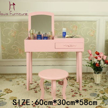 Mini makeup vanity dressing table  small cabinet dresser  on window