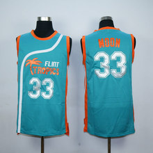 Stitch Mens Semi Pro Flint Tropics 33 Jackie Moon Basketball Jerseys White Green S-XXL Free Shipping